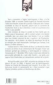 Charles De Foucauld, Frere Pour Tout Homme N69 - 4ème de couverture - Format classique