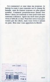Lear ; la mer - 4ème de couverture - Format classique