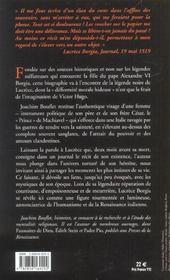Lucrece borgia - 4ème de couverture - Format classique