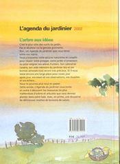 Agenda du jardinier 2002 (l') - 4ème de couverture - Format classique
