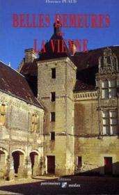 Belles Demeures De La Vienne - Couverture - Format classique