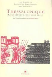 Thessalonique,Chroniques D'Une Ville Prise - Intérieur - Format classique