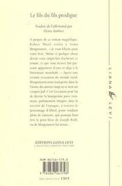 Le fils du fils prodigue - 4ème de couverture - Format classique