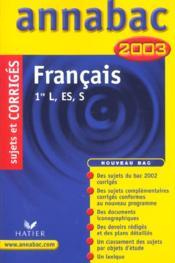 Annabac Sujets & Corriges - Couverture - Format classique