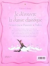 JE DECOUVRE ; je découvre la danse classique - 4ème de couverture - Format classique