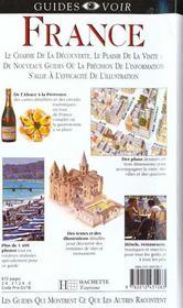 Guides Voir ; France - 4ème de couverture - Format classique