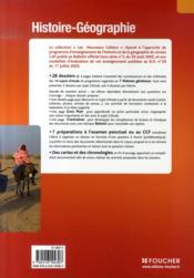 Les Nouveaux Cahiers ; Histoire-Géographie ; Cap ; Livre Pochette - 4ème de couverture - Format classique