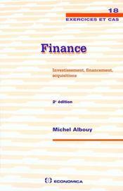 Finance ; investissement financement acquisitions - Intérieur - Format classique