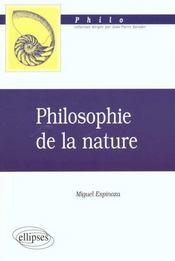Philosophie De La Nature Philo - Intérieur - Format classique