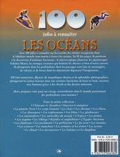 100 Infos A Connaitre ; Les Océans - 4ème de couverture - Format classique