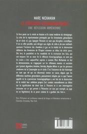 La Perversion Historiographique ; Une Reflexion Armenienne - 4ème de couverture - Format classique