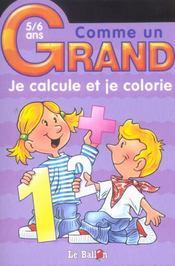 Je Calcule Et Je Colorie - Intérieur - Format classique