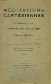 Meditations Cartesiennes, Introduction A La Phenomenologie - Couverture - Format classique
