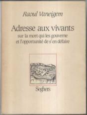 Adresse Aux Vivants - Couverture - Format classique