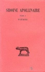 Poemes t.1 - Couverture - Format classique