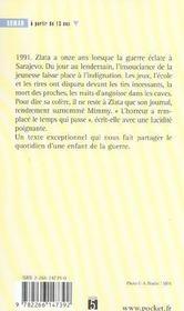 Le journal de Zlata - 4ème de couverture - Format classique