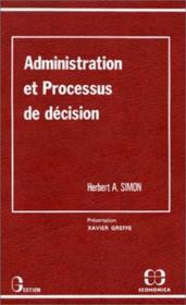 Administration et processus de décision - Couverture - Format classique