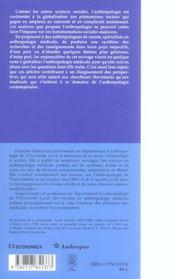 Anthropologie Medicale ; Ancrages Locaux, Defis Globaux - 4ème de couverture - Format classique