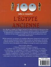 100 Infos A Connaitre ; L'Egypte Ancienne - 4ème de couverture - Format classique