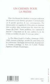 Chemin Pour La Priere - 4ème de couverture - Format classique