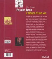 Passion Bach ; l'album d'une vie - 4ème de couverture - Format classique