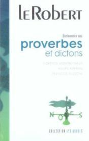 Dictionnaire de proverbes et dictons - Couverture - Format classique