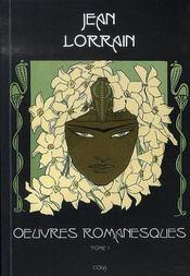 Oeuvres romanesques t.1 - Intérieur - Format classique