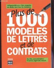 Plus de 1000 modèles de lettres et de contrats (édition 2008) - Couverture - Format classique
