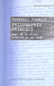 Philosophie chimique. hegel et la science dynamiste de son temps - Intérieur - Format classique