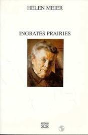 Ingrates Prairies - Couverture - Format classique