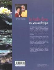 Le Jardin D'Eau - Une Vision Ecologique - 4ème de couverture - Format classique