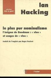 Le Plus Pur Nominalisme - Couverture - Format classique