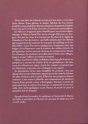 Le voyage en Chine d'Adriano de Las Cortes (1625) - 4ème de couverture - Format classique