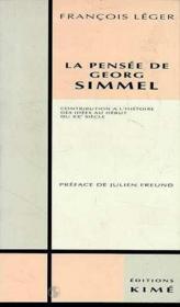 Pensee De Georg Simmel (La) - Couverture - Format classique