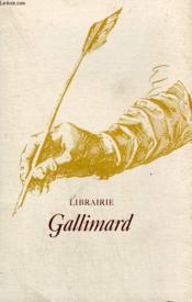 Librairie Gallimard. - Couverture - Format classique