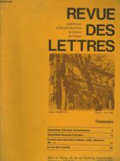 REVUE DES LETTRES. 115e ANNEE N°1. JANVIER-JUIN 1980. - Couverture - Format classique