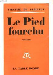 Le Pied Fourchu - Couverture - Format classique