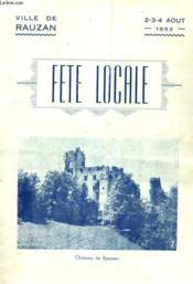 Ville De Rauzan - Fete Locale - Programme N°048 - Couverture - Format classique