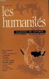 Les Humanites - Classe De Lettres - Juillet 1959 - Couverture - Format classique