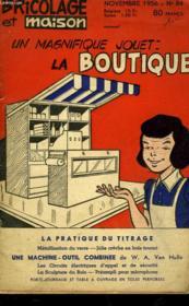 Bricolage Et Maison - Un Magnifique Jouet La Boutique - N°84 - Couverture - Format classique