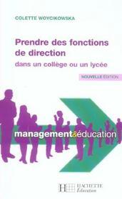 Prendre des fonctions de direction dans un collège ou un lycée - Intérieur - Format classique