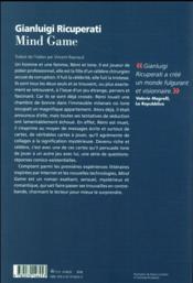 Mind game - 4ème de couverture - Format classique