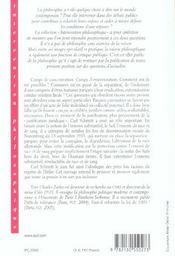 Un détail nazi dans la pensée de Carl Schmitt - 4ème de couverture - Format classique