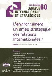 L'environnement, un enjeu stratégique des relations internationales ? - Intérieur - Format classique