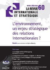L'environnement, un enjeu stratégique des relations internationales ? - Couverture - Format classique