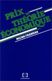 Prix Et Theorie Economique - Couverture - Format classique