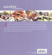 Sushis et sashimis - 4ème de couverture - Format classique