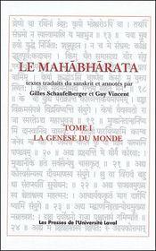 Le mahabharata t.1 ; la génèse du monde - Couverture - Format classique