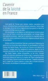 Avenir De La Laicite En France - 4ème de couverture - Format classique