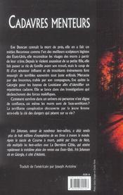 Cadavres Menteurs - 4ème de couverture - Format classique